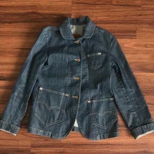Levi's asymmetrical pocket denim jacket